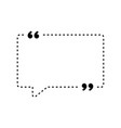 quotes icon quotemarks outline speech marks vector image vector image