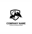 raven security logo vector image vector image