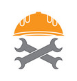 repair icon with wrench mechanic service concept vector image vector image