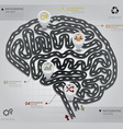 Road Street Business Infographic Brain Shape vector image