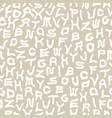seamless funky alphabet pattern vector image