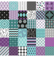 seamless pattern big set blue and white colors vector image vector image
