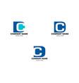 set dc letter logo design template vector image vector image