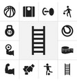 set of 12 editable active icons includes symbols vector image vector image