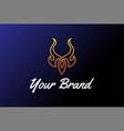 simple tribal or bull devil horn fire flame vector image