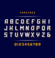 sport font alphabet with latin letters and vector image vector image