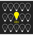 Switch n and off light bulb set Idea concept Funny vector image vector image