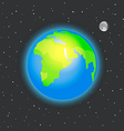 The Earth in space vector image vector image