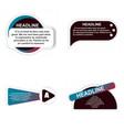 timeline infografic hand drawn elements vector image vector image