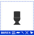 toilet bowl icon flat vector image vector image