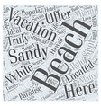 Top Beach Vacation Spots Word Cloud Concept vector image vector image