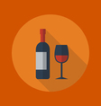 Travel Flat Icon Wine vector image vector image