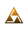 triangle logo icon design concept vector image vector image