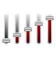 vertical sliders adjusters vector image vector image