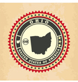 vintage label-sticker cards ohio vector image vector image