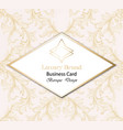 vintage luxury business card with baroque ornament vector image vector image
