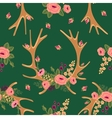 Vintage seamless pattern with deer antlers and vector image vector image