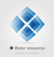 Water resource business icon vector image vector image