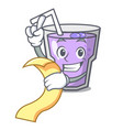 with menu berry smoothie mascot cartoon vector image