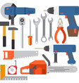 Repair tools and construction tools icons vector image