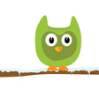 funny green animal on a branch vector image