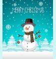a snowman christmas template vector image vector image