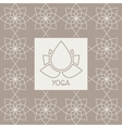 Abstract Lotus Flower Yoga Studio Design Card vector image vector image