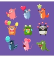 Animals At Birthday Party vector image vector image