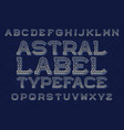 astral label typeface isolated english alphabet vector image