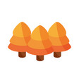 autumn forest pine trees botancial flat icon vector image vector image