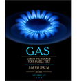 background with blue burning gas gas stove vector image