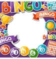 bingo or lottery game background with balls vector image vector image
