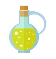 Bottle with Olive Oil in Flat Design vector image vector image