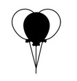 bunch balloons decoration vector image