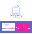 business card design with home company logo vector image
