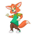 cartoon fox dancing vector image vector image