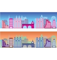 colored city vector image
