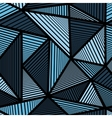 Colorful pattern with blue triangle vector image vector image