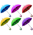 Colourful brollies vector image vector image