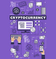 cryptocurrency blockchain bitcoin mining theme vector image vector image