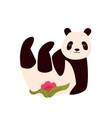 cute joyful panda vector image vector image