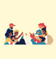 diverse multi ethnic friend group young people vector image vector image