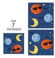 Educational game for children find differences vector image vector image