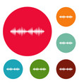 equalizer voice icons circle set vector image vector image