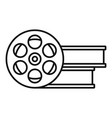 film metal roll icon outline style vector image vector image