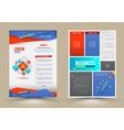 Flyer Brochure Design Templates vector image vector image