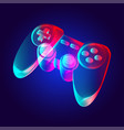 gamepad - abstract retro game console controller vector image