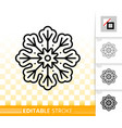 gingerbread cookie snowflake line icon vector image vector image