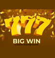 golden slot 777 with flying confetti wins