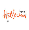 halloween card design lettering happy halloween vector image